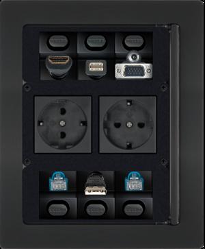 Extron Cable Cubby 700 Schwarz Vorkonfig Retrac Tischtank